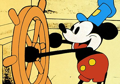 Mickey Mouse In Steamboat Willie 1928